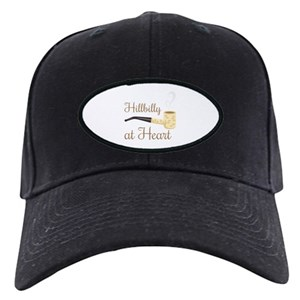 Hillbilly Black Cap With Patch - CafePress 4e47148a1d7