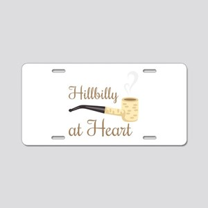 Hillbilly at Heart Aluminum License Plate