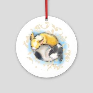 Sleeping Chihuahuas ByCatiaCho Ornament (Round)