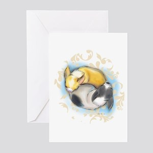 Sleeping Chihuahuas ByCatiaCho Greeting Cards