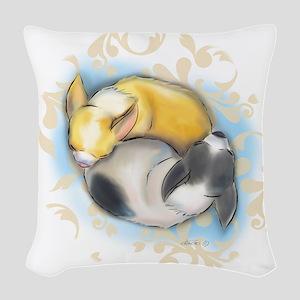 Sleeping Chihuahuas ByCatiaCho Woven Throw Pillow