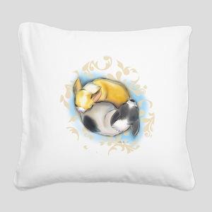 Sleeping Chihuahuas ByCatiaCho Square Canvas Pillo
