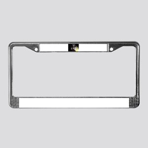 abstract face License Plate Frame