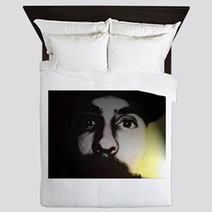 abstract face Queen Duvet