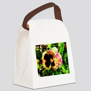 pansy flower Canvas Lunch Bag