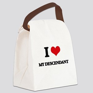 I Love My Descendant Canvas Lunch Bag