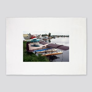 Float planes, Lake Hood, Anchorage, 5'x7'Area Rug