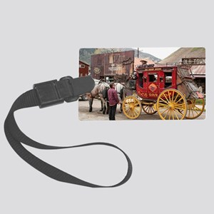 Horses and stagecoach, Colorado, Large Luggage Tag