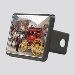 Horses and stagecoach, Col Rectangular Hitch Cover
