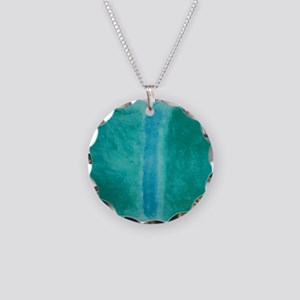 ROTHKO IN TEAL Necklace Circle Charm