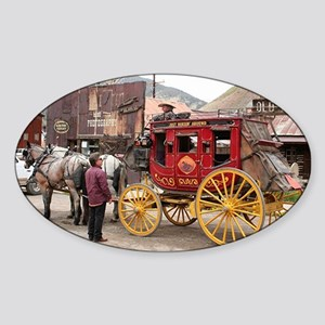Horses and stagecoach, Colo Sticker