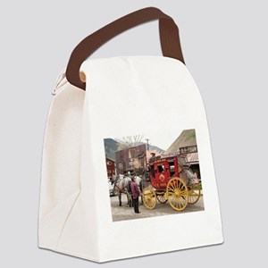 Horses and stagecoach, Colorado, Canvas Lunch Bag
