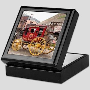 Horses and stagecoach, Colorado, USA Keepsake Box