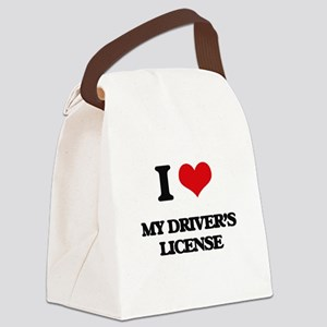 I Love My Driver's License Canvas Lunch Bag