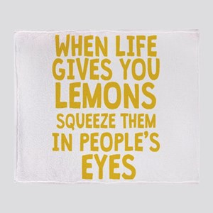 When Life Gives You Lemons Throw Blanket