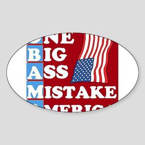 OBAMA - One Big Ass Mistake Sticker