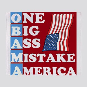 OBAMA - One Big Ass Mistake Throw Blanket