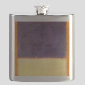 rothko-orange box with purple & yellow Flask