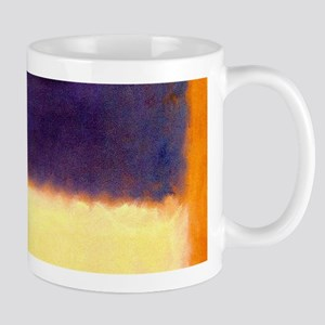 rothko-orange box with purple & yellow Mugs