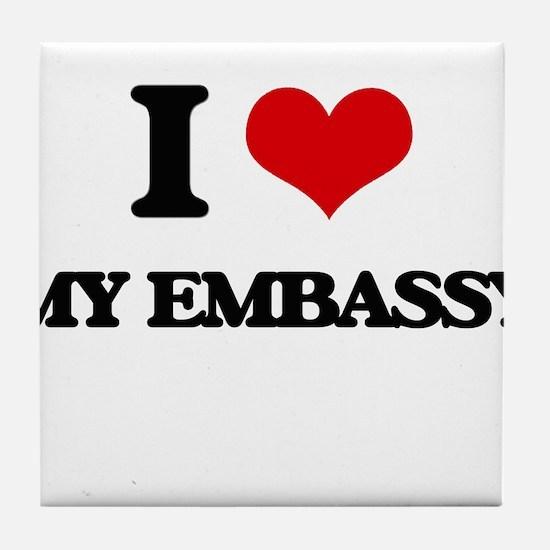 I love My Embassy Tile Coaster