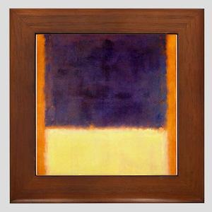 rothko-orange box with purple & yellow Framed Tile