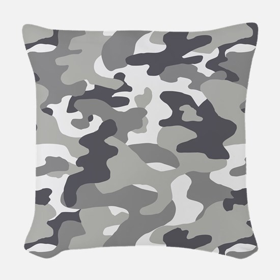 Urban Camouflage Woven Throw Pillow