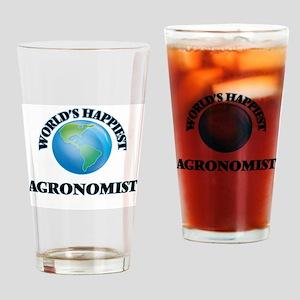 World's Happiest Agronomist Drinking Glass