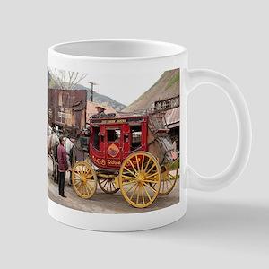 Horses and stagecoach, Colorado, USA Mugs