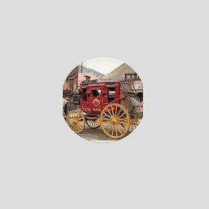 Horses and stagecoach, Colorado, USA Mini Button