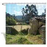 Crumbling Countryside Shower Curtain