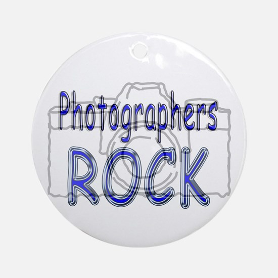 Photographers Rock Ornament (Round)