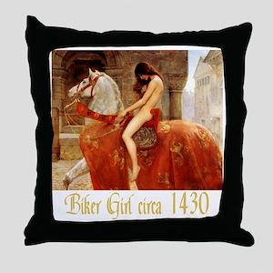 Collier Lady Godiva Throw Pillow