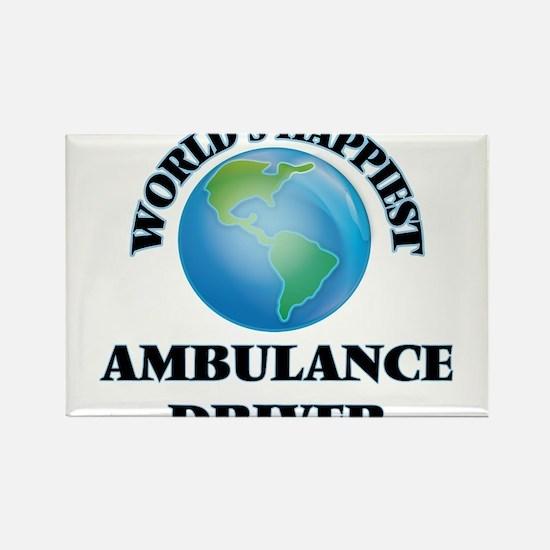 World's Happiest Ambulance Driver Magnets