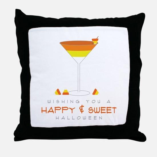 Sweet Halloween Throw Pillow