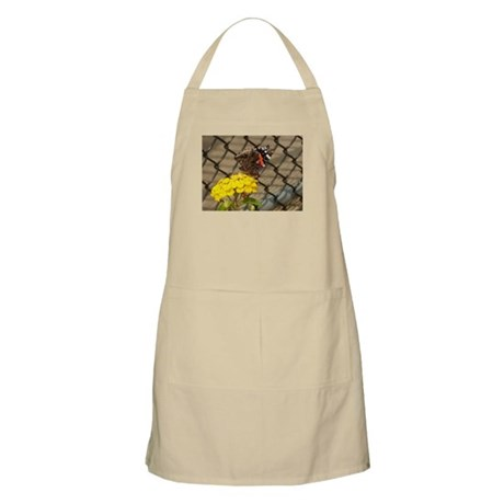 Butterfly On A Yellow Lantana #2 BBQ Apron