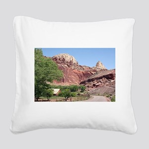 Fruita, Capitol Reef National Square Canvas Pillow