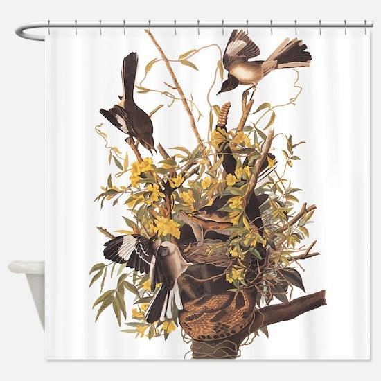 Audubon's Mocking Bird Shower Curtain