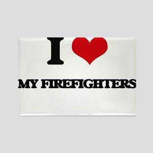 I Love My Firefighters Magnets