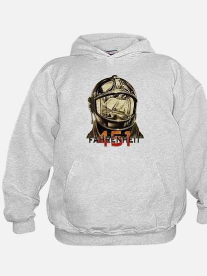 Fahrenheit 451 Fireman Grunge Hoodie