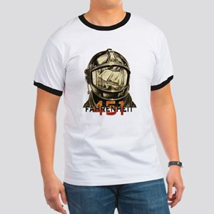 Fahrenheit 451 Fireman Grunge T-Shirt