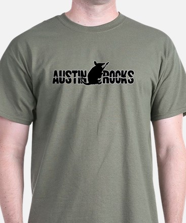 Austin Armadillo Rocks Guitar T-Shirt