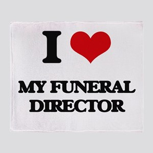 I Love My Funeral Director Throw Blanket
