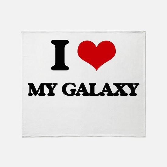 I Love My Galaxy Throw Blanket