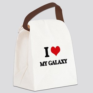 I Love My Galaxy Canvas Lunch Bag