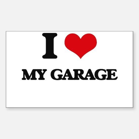 I Love My Garage Decal