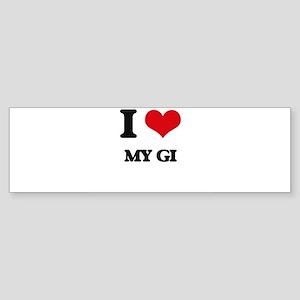 I Love My Gi Bumper Sticker