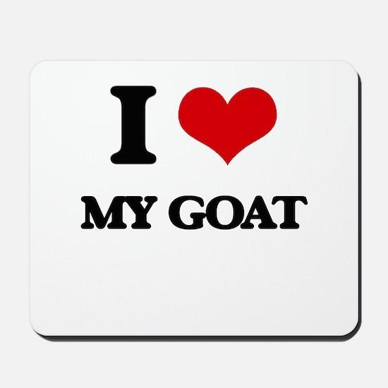 I Love My Goat Mousepad