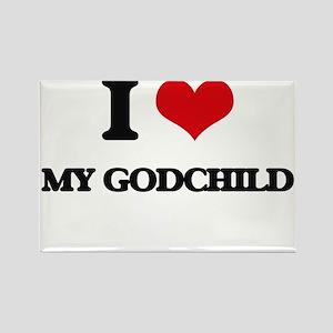 I Love My Godchild Magnets
