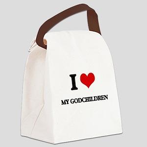 I Love My Godchildren Canvas Lunch Bag