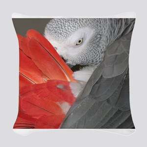 Elegant Grey Woven Throw Pillow
